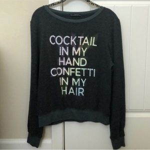 ✨ NWOT Wildfox Cocktails & Confetti BBJ Sweater
